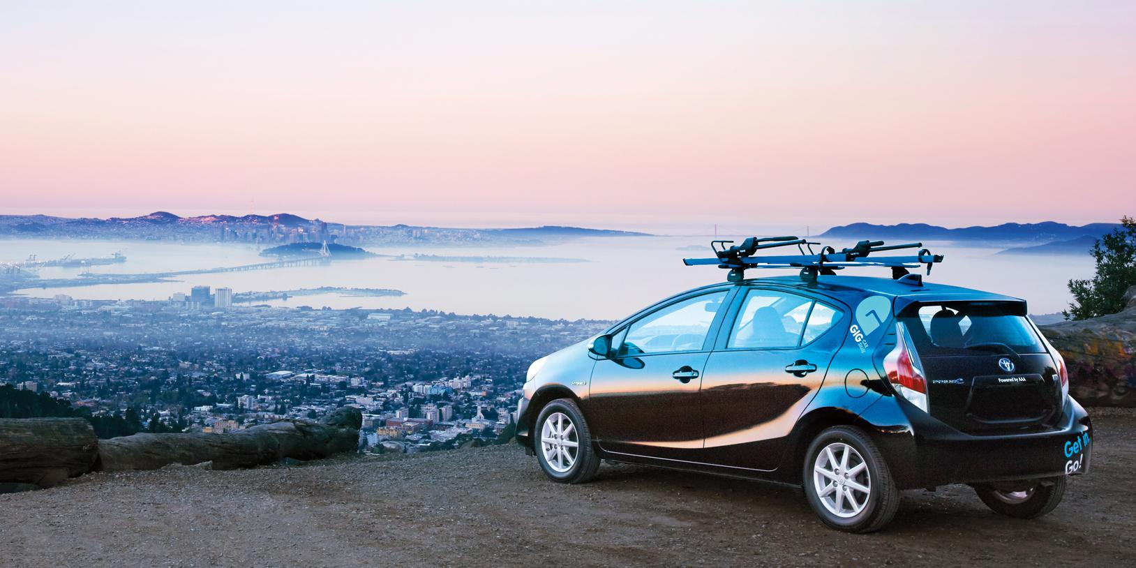 Gig Car Overlooking The San Francisco Bay Area Photo