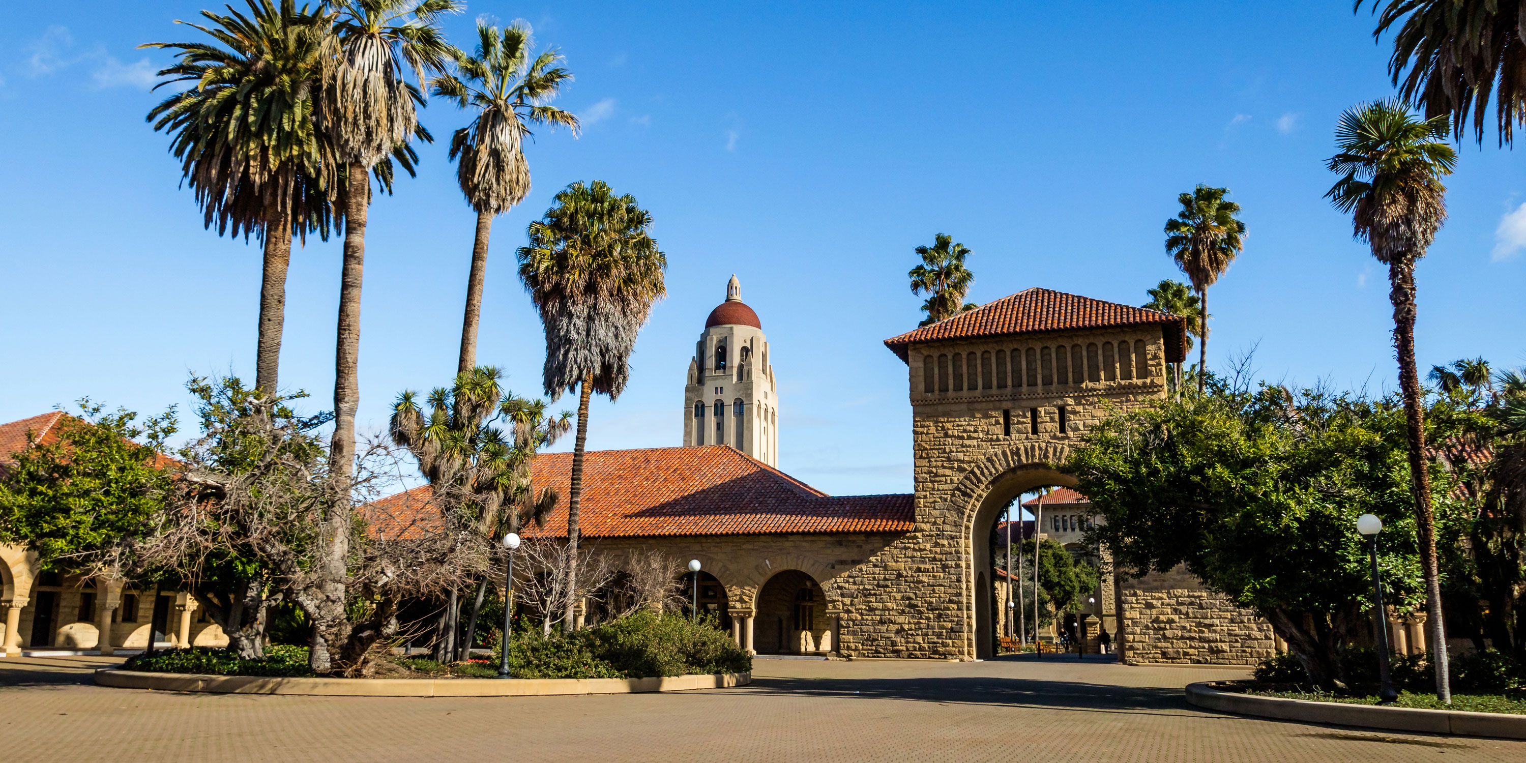 Arcade Along Main Quad At Stanford University In Palo Alto California Picture